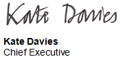 Kate Davies Chief Executive